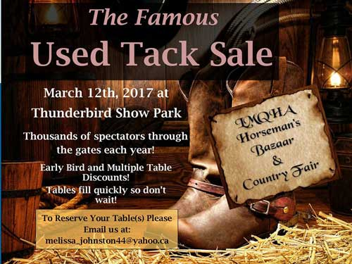 Famous Used Tack Sale Horsemans Bazaar Thunderbird Langley
